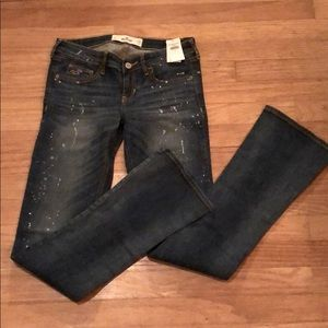 NWT Hollister boot cut jeans 3R/26
